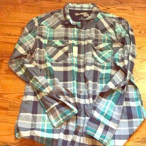 Men's snap shirt
